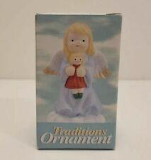 1996 CVS Traditions Angel Christmas Ornament Holding Doll W/box Bag Gold String