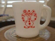 Fire-King Acme Toy and Novelty Co. Clown Toys Advertising Coffee Mug