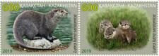 Kazakhstan 2019. River Otter. A pair of stamps.NEW!!!