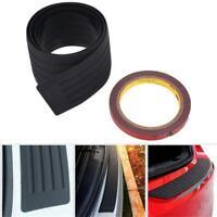 Car Rear Bumper Guard Protector Trim Cover Sill Plate Trunk Rubber Pad Kit Black
