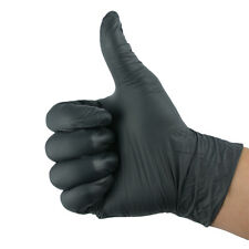 2PC Black Latex Nitrile Gloves Tattoo Mechanic Household Essential Disposable