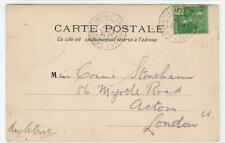 FRENCH INDO-CHINA: 1906 picture postcard to London (C46004)