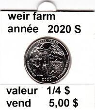 pièces de 1/4 $  weir farm 2020 S