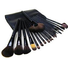 24 Professional Make Up Brush Set Foundation Brushes Wooden Salon Makeup Brushes