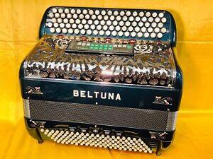 Beltuna 5 Row C Scale Midi Chromatic Musette Accordion Used