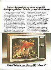 Sony Trinitron 44cm 110° Tv   A.O.G  Advertising Publicité AD Vintage Années 70'