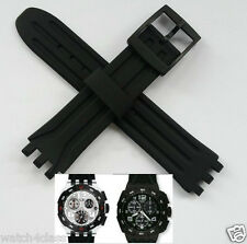 18mm rubber silicon strap bracelet band (fits) SWATCH SUIB400 MISTER CHRONO