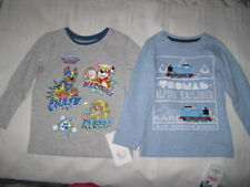 ✈M&S Size 1.5 - 2 Years 2 x Boys t-shirt Paw Patrol & Thomas & Friends
