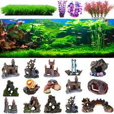 Artificial Resin Aquarium Fish Tank Rockery Castle House Escape Cave Landscap