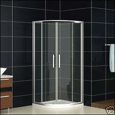 900x900mm Quadrant Shower Enclosure Corner Cubicle Glass And Tray+Chrome Waste