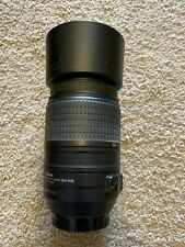 Nikon 55-300mm F/1:4.5-5.6 G VR Lens With Nikon Lens Hood Read Descrip
