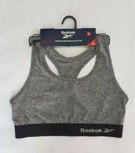Reebok Women's Simone Performance Sports Crop Top Grey Marl Size M A0399