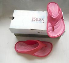 Girls Shoes Bass Shoes for kids Two Tone Flip Flops Size 1 M