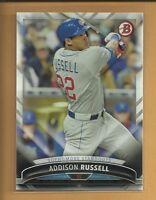 Addison Russell 2016 Bowman Sophmore Standouts Insert Card # SS-11 Cubs Baseball