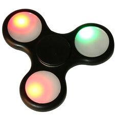Fidget spinner gioco luminoso 12 LED selezionabili antistress cuscinetti metall