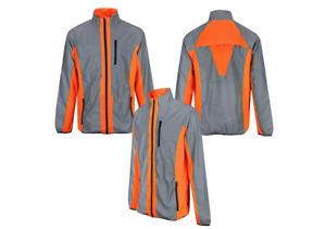 "BTR High Visibility Reflective Cycling & Running Jacket Grey/Orange  XL 44""-46"""
