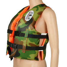 Child Kids Life Jacket Swimming Buoyancy Aid Camo Vest Fits For 4~7 Years Old