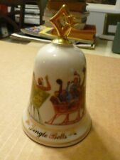 Lenox 1993 Musical Bell Jingle Bells Horse Drawn Sleighs w/Box Works Well