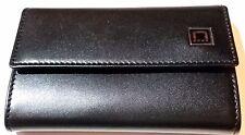 New S.T. Dupont Paris Men's Rich Black Leather KEYCASE w/ Certificate BOX Tags