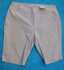 Natural SAND Shorts Size 22 BeMe Bengaline Style Tab Trim.New.RRP $39.99 STRETCH