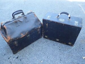 Antique Embalming Kit with Bottles Pumps Trocars Instruments Makeup Mortician
