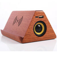 Wood Speaker Bluetooth Solid Wood With Wireless Radio Function for Home Travel
