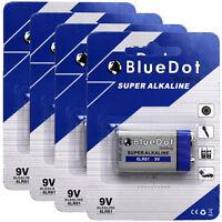 Brand New ~ Set of 4 ~ 9 Volt 9V BlueDot Alkaline Battery Batteries ~ US SHIPPER
