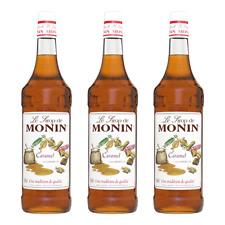 Monin Sirup Caramel, 1,0L PET, 3er Pack