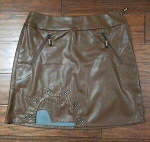Jamie Sadock Brown Skirt sz 4 NWT Msrp $120 Style 72301 (W6)