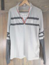Spyder Pullover Jacket 1/4 Zip Gray Athletic Mens Medium Turtleneck US Ski Team
