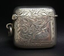 Vintage C. Lyster English Sterling Silver Match Safe Vesta 20g Collectors Item