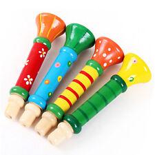 Trompette en Bois Coloré Hooter Bugle Jouet Éducatif Musical pour Enfants Mode