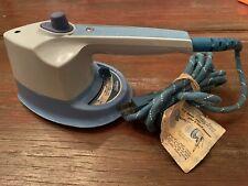 Iron Vintage 1972 Sunbeam Steam Retro Stainless Electric Blue Mini Clothes Iron