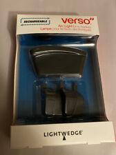LightWedge Verso Rechargeable Arc Light for E-Readers  Black New