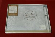 C.R. Gibson Guest Book With Pen Our 25th Wedding Silver Anniversary CR NIB