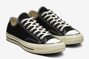 Converse Chuck 70 Classic Low Top Men's Casual Low Black Sneakers 162058C-001