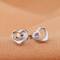 Kleine Ohrstecker Herz echt Sterling Silber 925 Damen Mädchen Kinder Ohrringe