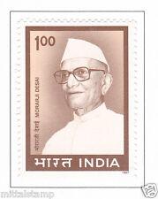 PHILA1527 INDIA 1997 MORARJI DESAI MNH