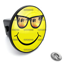 """2"""" Tow Hitch Receiver Plug Cover Insert For SUV's & Trucks - """"Smiley Face"""""""