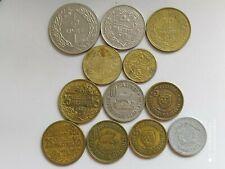 Lebanon lot of 12 coins 1 livre 50+3*25+3*10+4*5 piastres