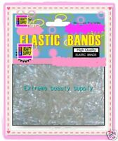 CLEAR small elastic bands pony tail girl holder cheerleader dreadlock braid TIE