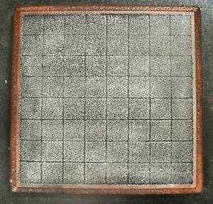 """Chess checker board mould 9.5"""" x 9.5"""" x 3/4"""" thick plaster concrete mold"""