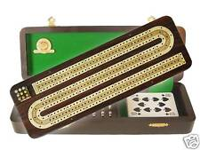 "Continuous Cribbage Board 3 Tracks Rosewood / Maple 12"" - House of Cribbage"