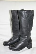 Women's Martino Black Leather Boots Canada Shoes Size 6.5