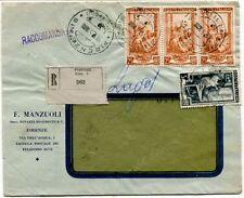 1951 Italia al Lavoro RACCOMANDATA F. Manzuoli succ. Binazzi Biagiotti Firenze