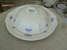 Adderley round butter plate with lid (Chelsea Blue) 1 available