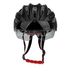 Adult Men Women Bike Safety Helmet Cycle Helmet Visor Adjustable Stap Black