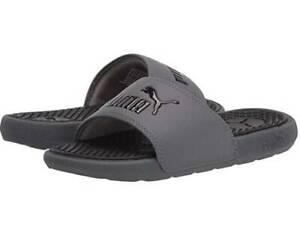 NEW Puma Junior Cool Cat Slide Sandal Gray Black SZ 5 Shoe UNISEX NWT