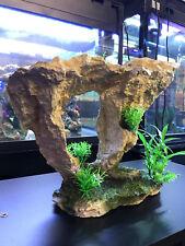 LARGE WHITE ROCK ARCH FISH TANK AQUARIUM ORNAMENT 33x13x27cm