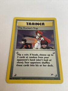 Rocket's Trap Gym Heroes 19/132 Holo NM